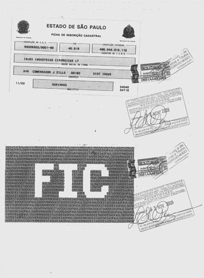 Ficha de Inscrição Cadastral