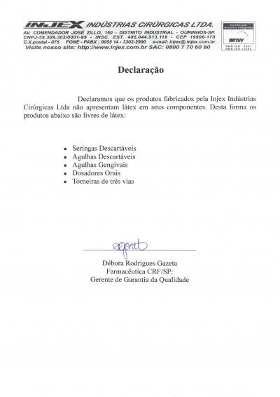 Declaração - Livre Latex