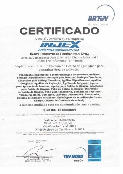 Certificado ISO 13485