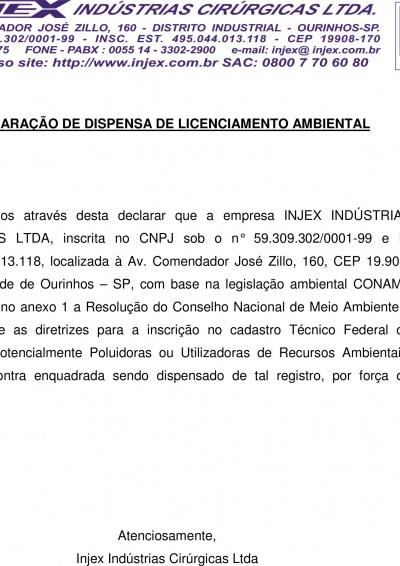 Licença Ambiental - IBAMA (Declaração)